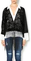 Miss Me Velvet Fringe Kimono