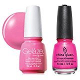 China Glaze Gelaze Tips and Toes Nail Polish, Dance Baby, 2 Count