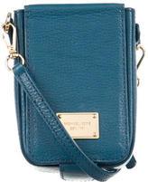 Michael Kors Leather Cell Phone Crossbody Bag