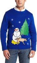 Alex Stevens Men's Sad Snowman Ugly Christmas Sweater