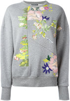 Alexander McQueen floral embroidered sweatshirt - women - Cotton - 36