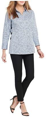 Nic+Zoe Petite Naples Tunic Shirt (Blue Multi) Women's Clothing