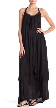 BOHO ME Beaded Maxi Halter Dress