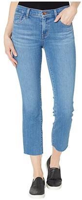J Brand Selena Mid-Rise Crop Boot in Cerulean (Cerulean) Women's Jeans