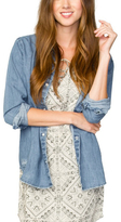 Element Indigo Moonlight Denim Button-Up