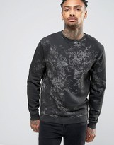 Asos Sweatshirt With Bleach Wash