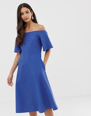 Closet London Closet off the shoulder a line dress-Blue