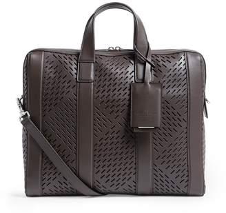 Bottega Veneta Leather Perforated Marcopolo Briefcase