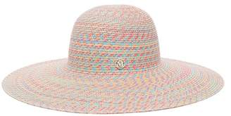 Maison Michel Blanche Straw Hat - Womens - Pink Multi