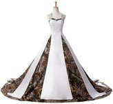 Sunvary Camouflage Ball Gown Wedding Bridal Dresses Prom Quinceanera Gowns Size