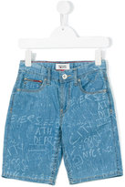 Tommy Hilfiger Junior - printed denim shorts - kids - Cotton - 8 yrs