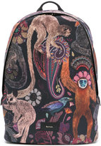 Paul Smith monkey print backpack - men - Leather/Polyester - One Size