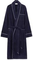 Sleepy Jones - Altman Contrast-tipped Cotton-terry Robe
