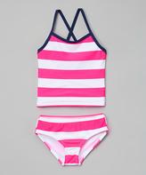 Kanu Surf Pink & White Layla Tankini - Infant & Toddler