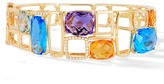 Effy Jewelry Effy Brick 14K Yellow Gold Blue Topaz, Amethyst, Citrine & Diamond Bangle