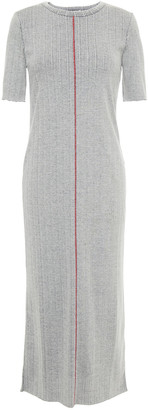 Rag & Bone Melange Ribbed Cotton-blend Midi Dress