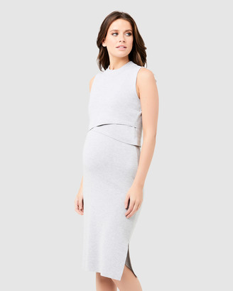 Ripe Maternity Layered Knit Nursing Dress