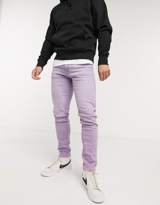 Levi's 512 slim tapered fit jeans in lilac wash