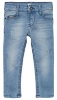 Levi's Blue Over-Dyed Distressed 711 Skinny Jeans