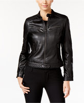 Rachel Roy Faux-Leather Moto Jacket