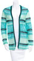 M Missoni Long Sleeve Patterned Cardigan w/ Tags