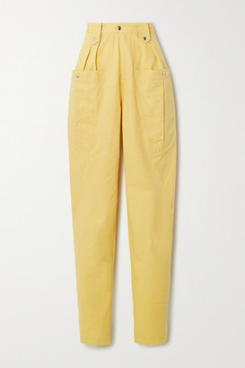 Isabel Marant Yerris Cotton Tapered Pants - Yellow