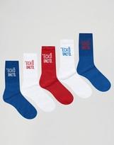 Ecko 5 Pack Sports Socks Assorted