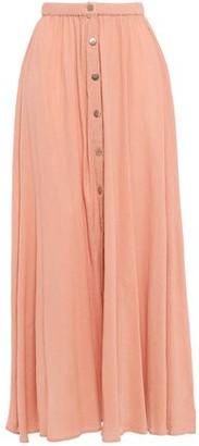Melissa Odabash Dru Crinkled Cotton-gauze Maxi Skirt