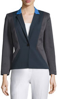 Lafayette 148 New York Regan Polka-Dot One-Button Jacket, Ink/Multi