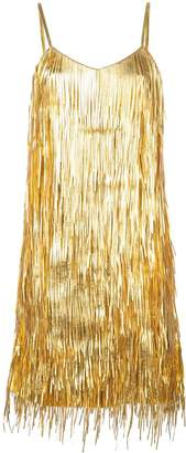 Michael Kors metallic fringed dress