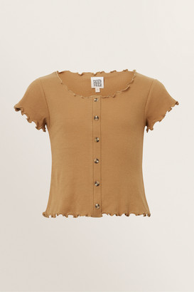 Seed Heritage Button Rib Top