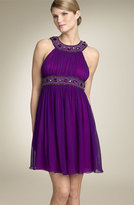 Niteline Aidan Mattox Beaded Halter Dress