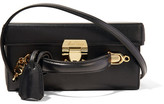 Mark Cross Grace Large Textured-leather Shoulder Bag - Black
