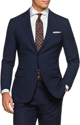 Suitsupply Traveler Havana Slim Fit Navy Wool Blazer