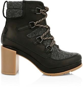 Sorel Blake Lace-Up Leather Felt Hiking Boots