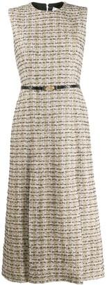 Victoria Beckham Sleeveless Tweed Midi-Dress
