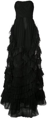 Marchesa bandeau A-line dress