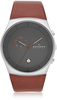Skagen Havene Chronograph Leather Men's Watch