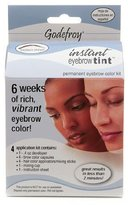 Godefroy Instant Eyebrow Tint Permanent Eyebrow Color Kit, Medium Brown-1 kit