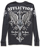 Affliction Lifeless Long-Sleeve Thermal Graphic Tee