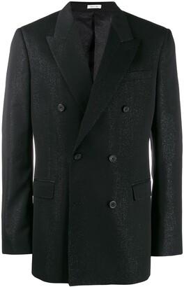 Alexander McQueen Glitter Detail Suit Jacket