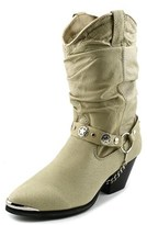 Dingo Pig Slouch W/ Harness Women Round Toe Leather Tan Boot.