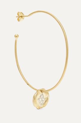 Pascale Monvoisin Hayett 9-karat Gold Diamond Earring - one size