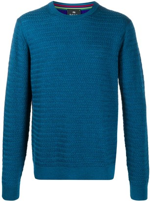Paul Smith Two-Tone Chunky Knit Jumper