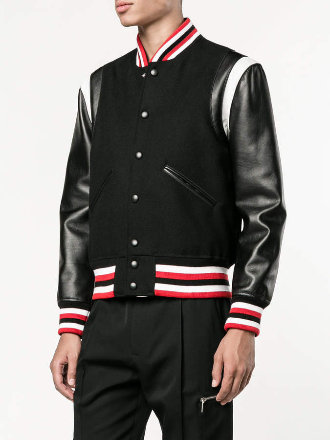 Givenchy striped college jacket
