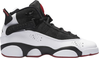 Jordan 6 Rings Basketball Shoes - Black / White Gym Red