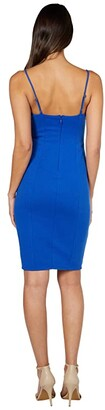 Bebe Sweetheart Jacquard Midi Dress