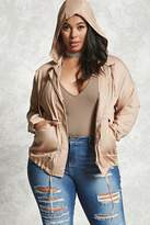 Forever 21 Plus Size Hooded Jacket