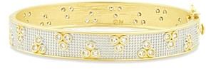 Freida Rothman Fleur Bloom Pave Hinged Bracelet