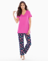 Soma Intimates Ankle Pants Pajama Set Mai Tai Navy